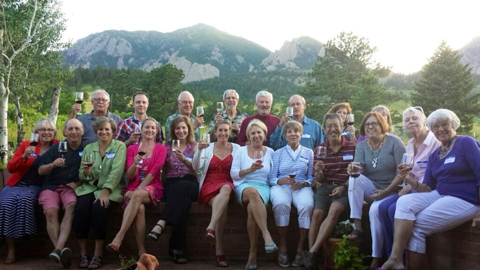The Boulder Chapter, raising their glasses.